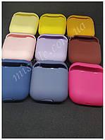 Силиконовый чехол для эирподс 1 / 2 AirPods разные цвета