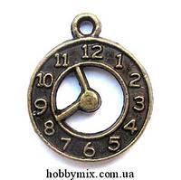 """Метал. подвеска """"часы"""" бронза (1,7х2,1 см) 8 шт в уп."""