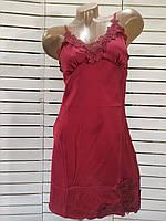 Женский пеньюар(ночная рубашка) из мокрого шелка для сна размер от44 до 48, фото 1