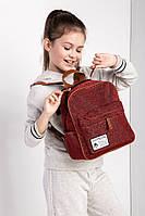 Повседневный текстильный  практичный рюкзак из блестящей ткани
