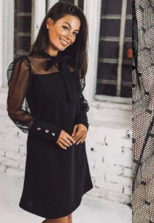 Вечернее платье с сеткой Alana