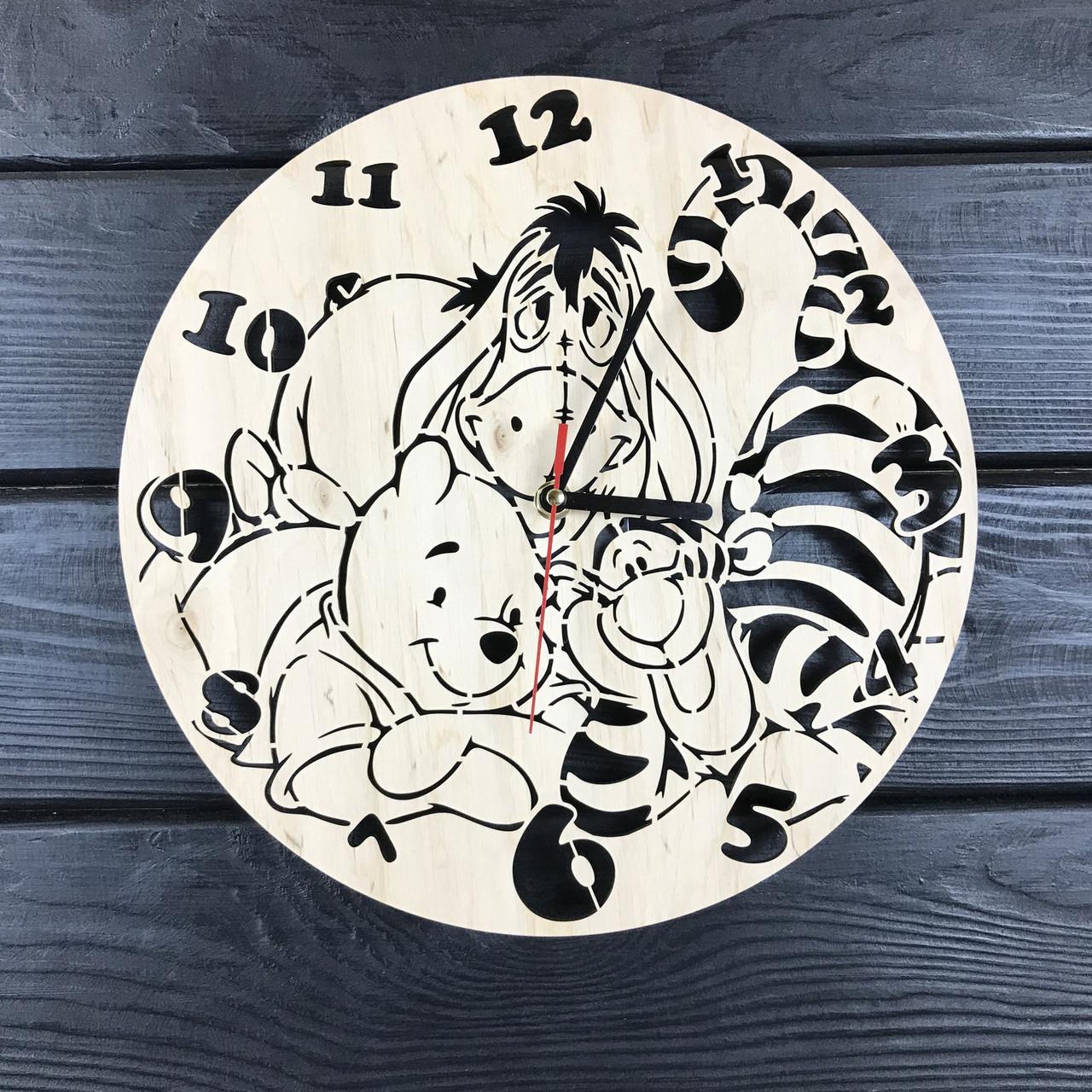Детские настенные часы из дерева «Винни и компания»