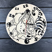Детские настенные часы из дерева «Винни и компания», фото 1