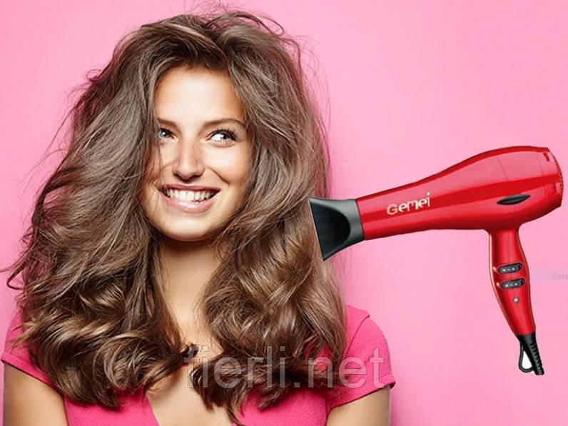 Фен для укладки и сушки волос Gemei GM-1715  2000W