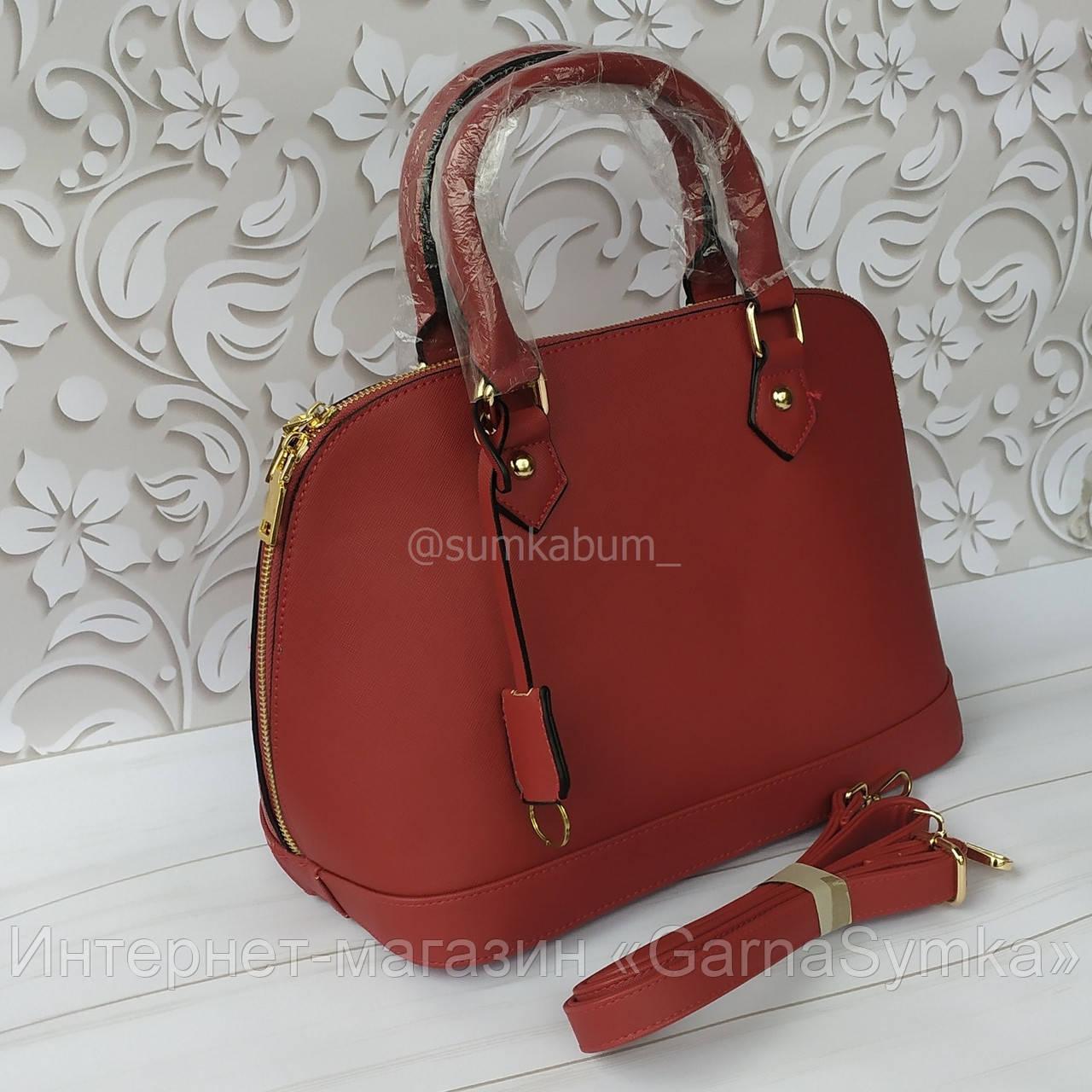 Красивая  кожаная сумка отличного качества