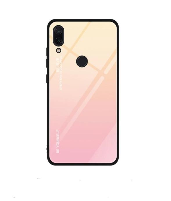 Чохол Gradient для Huawei Y7 2019 Золотий-рожевий