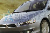 Реснички на фары Mitsubishi Lancer X