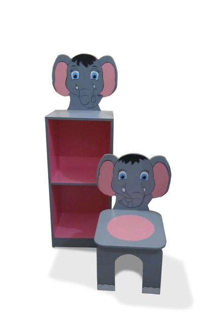 """Стілець  + шафа на 2 полиці """"Слоненя"""""""