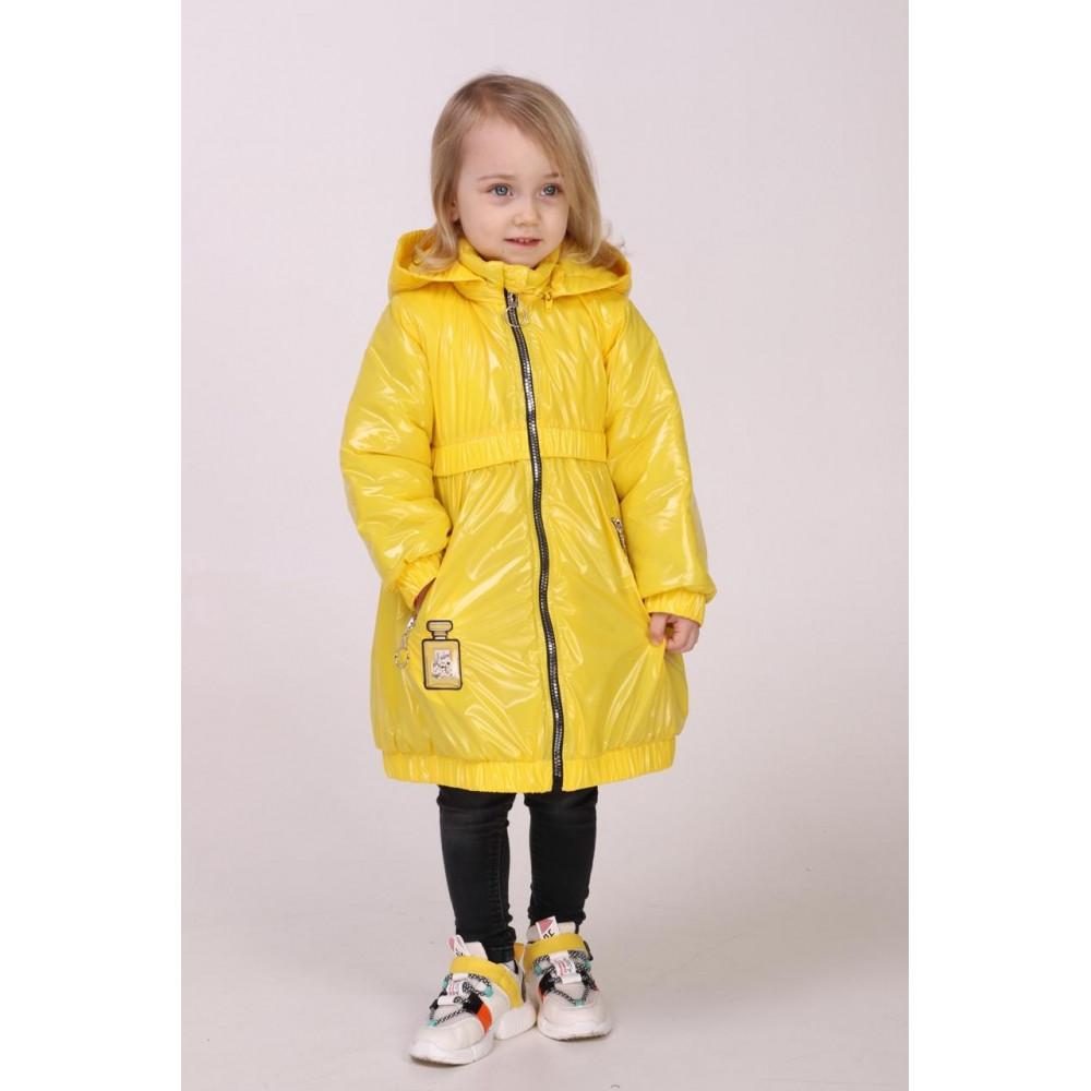 Куртка для девочки на весну детская  98-116 желтый