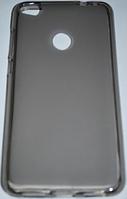 Силиконовый чехол для Huawei P8 Lite черный прозрачный