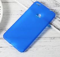 Силиконовый чехол для Huawei P8 Lite синий прозрачный
