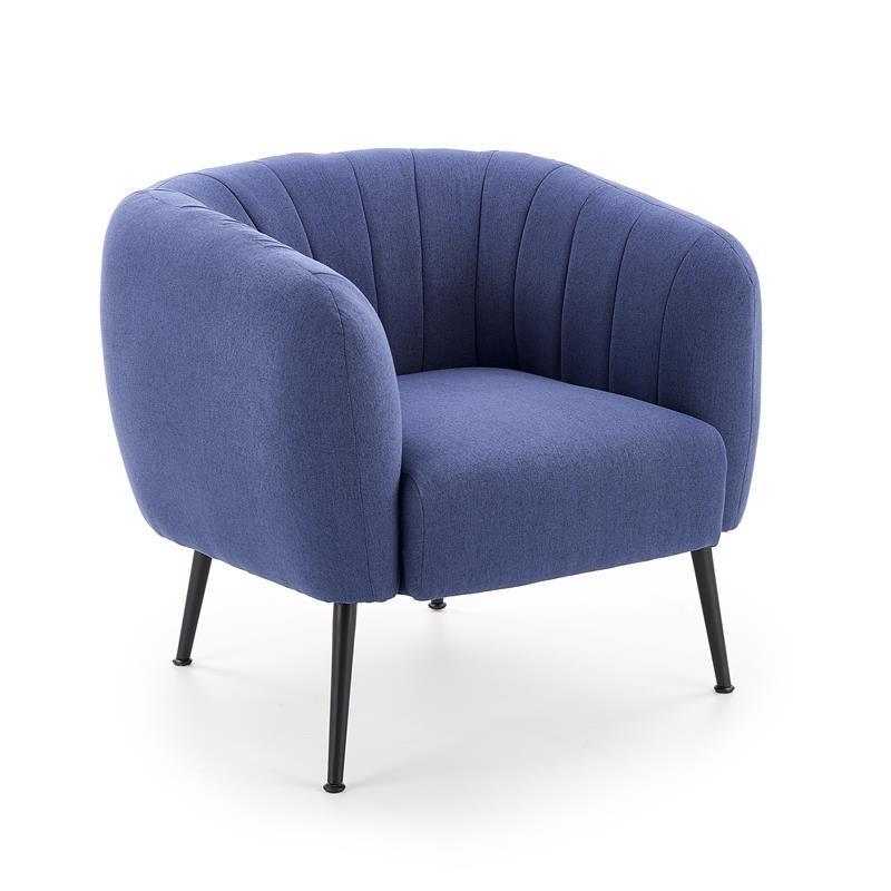 Кресло LUSSO темно-синий (Halmar)