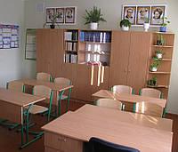 Парта ученическая двухместная с регулируемой высотой, фото 1