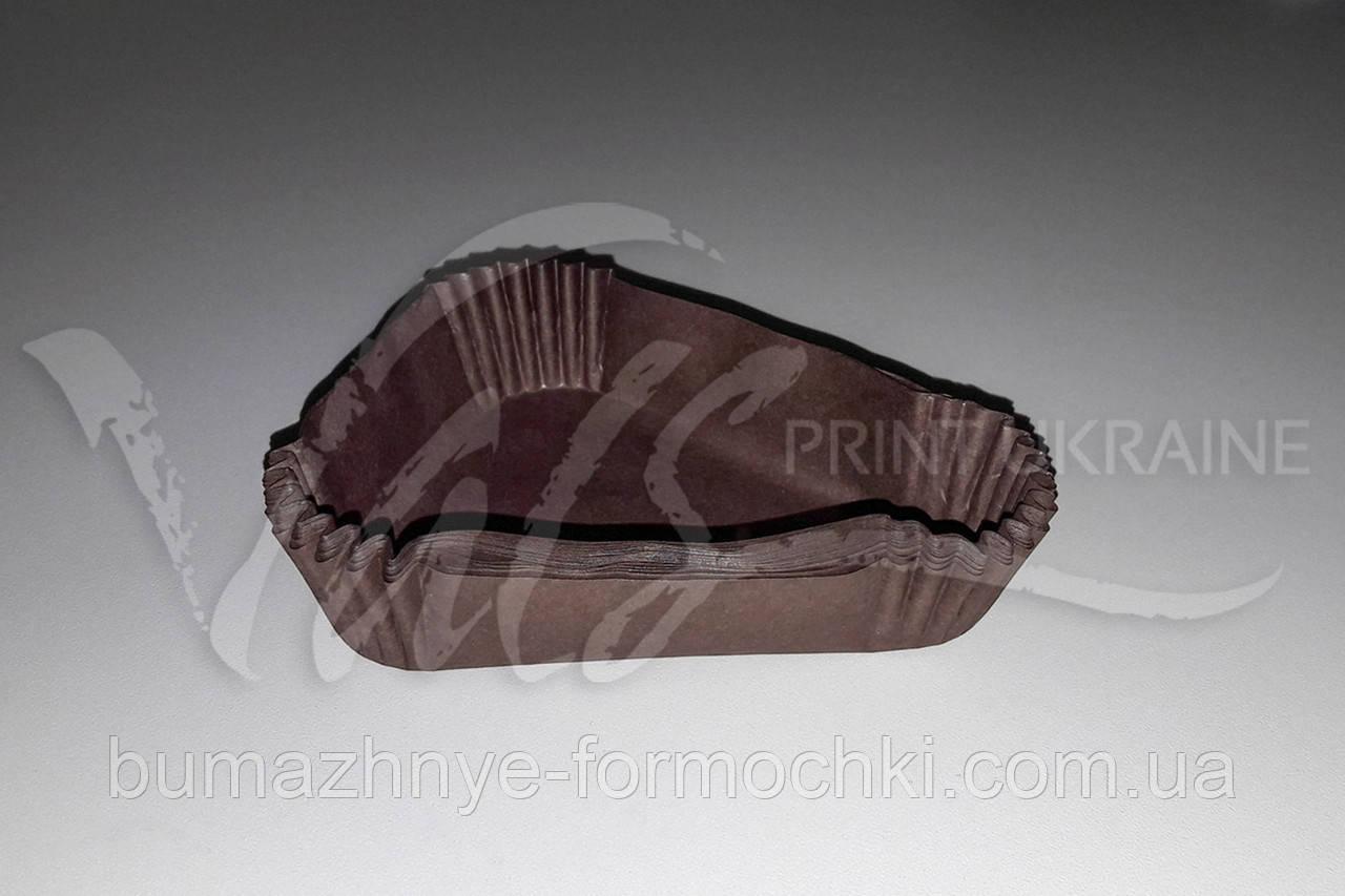Треугольная бумажная форма, коричневая