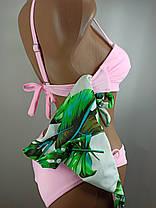 Купальник перекрут двое плавок Sisianna 59915 розовый  на наши 42 44 46 48 50 размер, фото 3