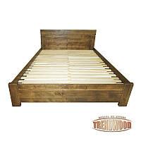 Кровать деревянная Ника (ДУБ щит) от производителя. Кровати из дерева. Кровать для спальни из дерева.
