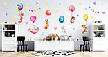наклейки на стену в детскую зверята с шариками, фото 2