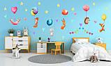наклейки на стену в детскую зверята с шариками, фото 3