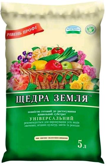 Субстрат Щедрая Земля 5 л