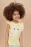 Летний яркий костюм для девочки шорты и футболка, фото 2
