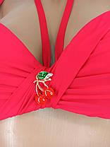 Купальник пуш-ап с двумя плавками Sisianna 59902 красный на 44 размер, фото 3
