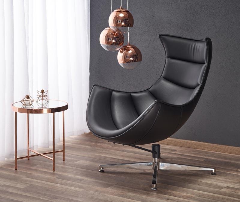 Кресло LUXOR черный (Halmar)