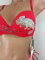 Красный купальник Игуана 6149 на 44 размер., фото 2