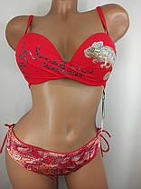 Красный купальник Игуана 6149 на 44 размер., фото 3