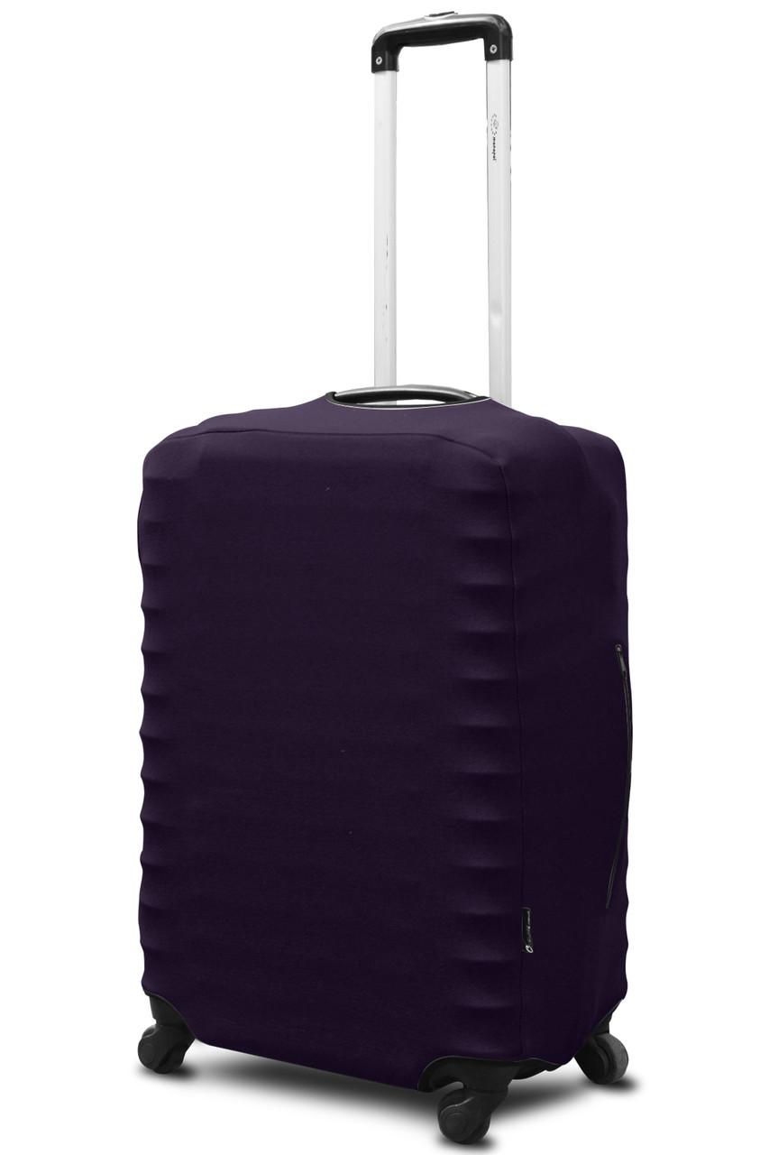 Чохол для валізи Coverbag неопрен L баклажан