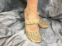 Женские туфли Leyaes J146-C671 бежевые 36-38