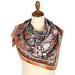 10195-16, павлопосадский платок из вискозы с подрубкой 80х80, фото 3