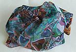 10195-16, павлопосадский платок из вискозы с подрубкой 80х80, фото 9