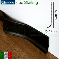 Гибкий плинтус для пола Progress Flex Skirting 60x10mm., Чёрный