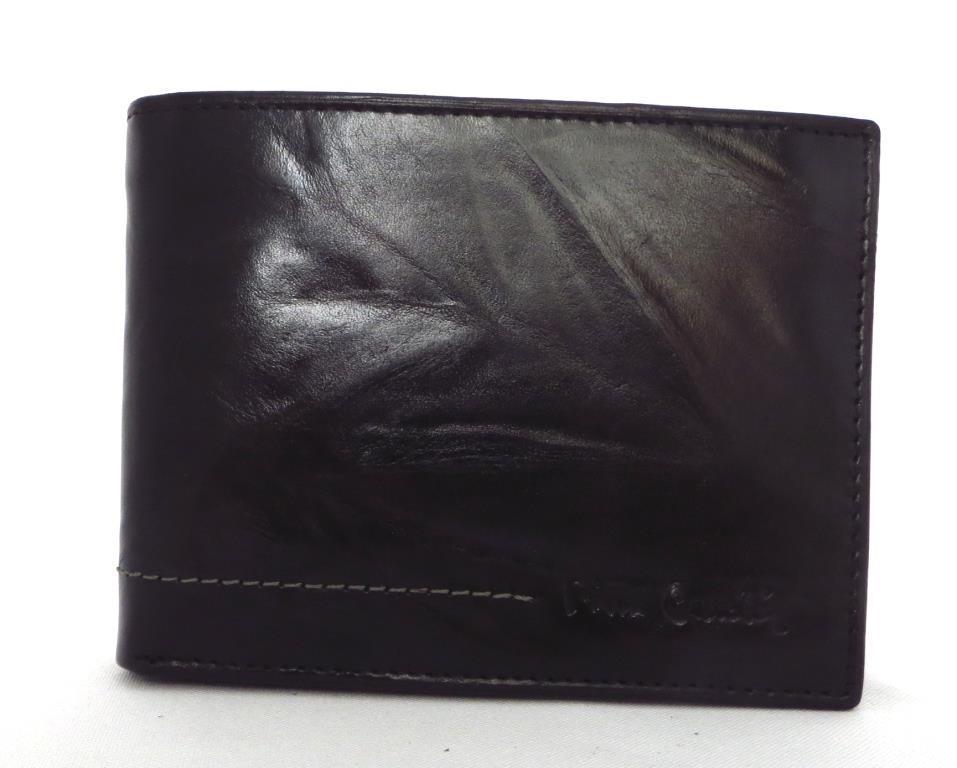 Чоловічий шкіряний кошельок Pierre Cardin (Італія) Чорний