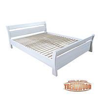 Кровать деревянная Анкона (ДУБ щит) от производителя. Кровати из дерева. Кровать для спальни из дерева.