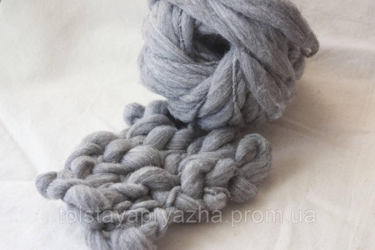 Пряжа Дуо (серый меланж)