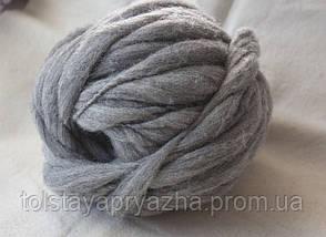 Пряжа Дуо (серый меланж), фото 3