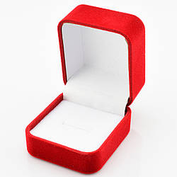 Футляр классика для кольца красный бархат 741061 размер 3.9х5.8 см