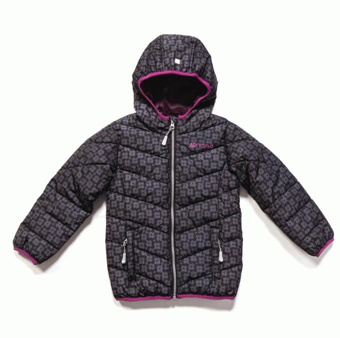 Стеганная демисезонная куртка для девочки Nano F17M1250 Black Print
