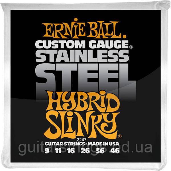 Струны Ernie Ball 2247 Custom Gauge Stainless Steel 9-46