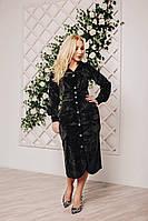 Платье-миди с длинным рукавом в цвете хаки, фото 1