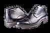 Мужские ботинки на флисе mida 12094ч черные   весенние