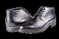 Мужские ботинки на флисе mida 12094ч черные   весенние , фото 1