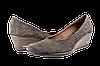 Женские туфли замшевые на танкетке salama 84440кор коричневые   весенние