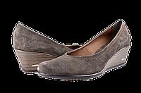 Женские туфли замшевые на танкетке salama 84440кор коричневые   весенние , фото 1