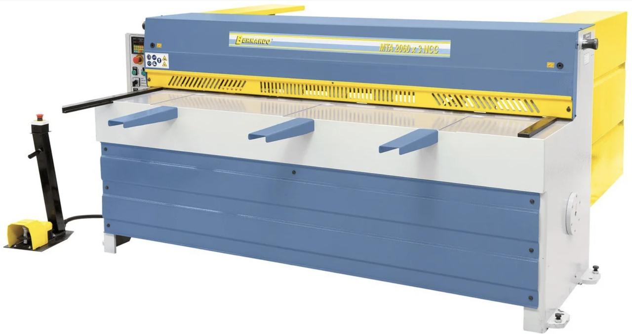 MTA 3060 x 2 мм NCC ГИЛЬОТИНА ЭЛЕКТРОМЕХАНИЧЕСКАЯ ДЛЯ РЕЗКИ МЕТАЛЛА | электромеханические гильотинные ножницы