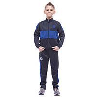 Костюм спортивный детский клубный CHELSEA, полиэстер, флис, р-р 26-32, синий (LD-6132K-CH-(bl))