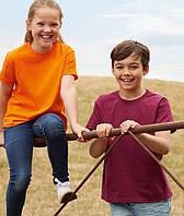 Детские футболки оптом от 3 до 15 лет Унисекс Fruit of the loom