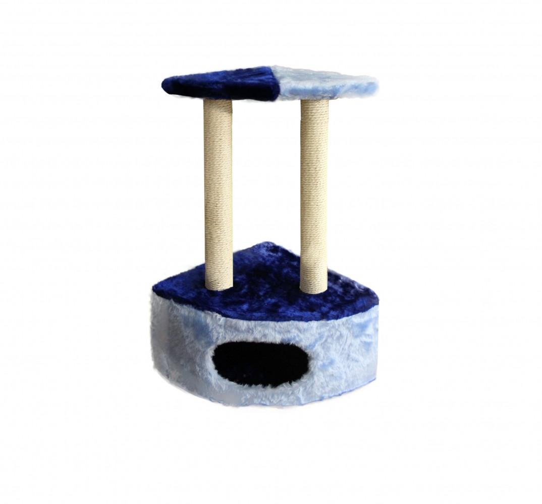Угловая когтеточка для кошек, сизалевая, сине-голубая,
