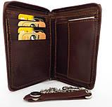 Чоловічий шкіряний гаманець (Італія) Коричневий, фото 3